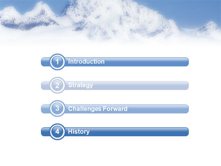 Skiing in Alps PowerPoint Template Slide 3