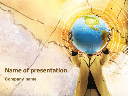 World Discovery PowerPoint Template, 01727, Careers/Industry — PoweredTemplate.com