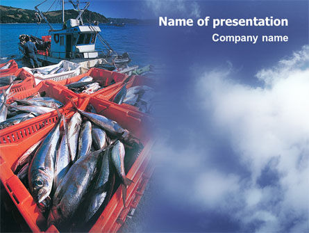 Careers/Industry: Fishery PowerPoint Template #01733