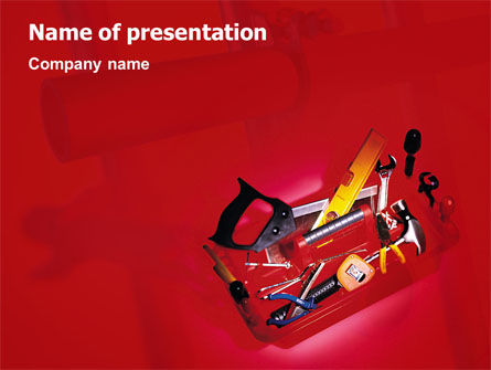 Utilities/Industrial: Tools Box PowerPoint Template #01734