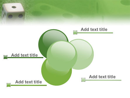 Dice On A Green Cloth PowerPoint Template Slide 10
