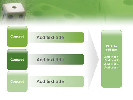 Dice On A Green Cloth PowerPoint Template Slide 12