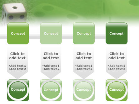 Dice On A Green Cloth PowerPoint Template Slide 18