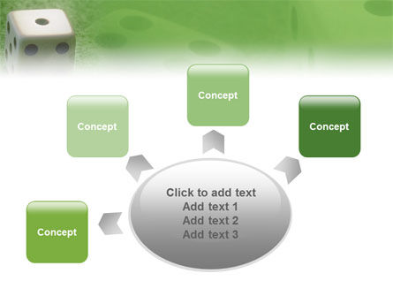 Dice On A Green Cloth PowerPoint Template Slide 7