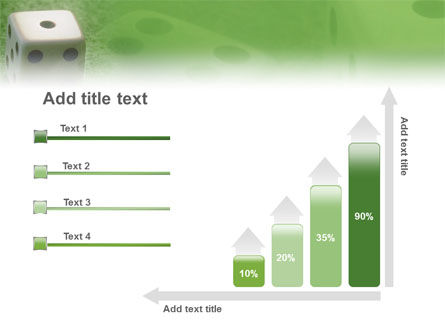 Dice On A Green Cloth PowerPoint Template Slide 8