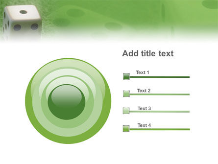 Dice On A Green Cloth PowerPoint Template Slide 9