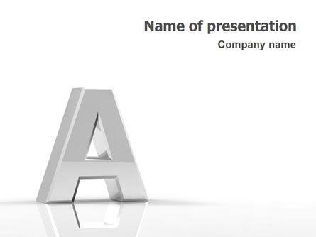 3D Letter PowerPoint Template, 01736, 3D — PoweredTemplate.com