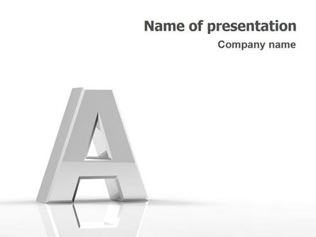 3D: 3D Letter PowerPoint Template #01736