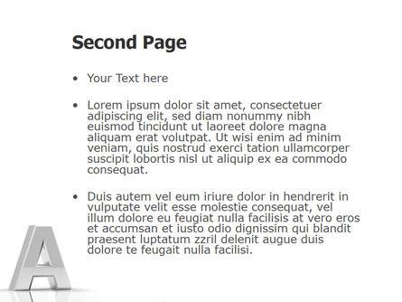 3D Letter PowerPoint Template, Slide 2, 01736, 3D — PoweredTemplate.com