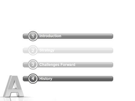 3D Letter PowerPoint Template, Slide 3, 01736, 3D — PoweredTemplate.com