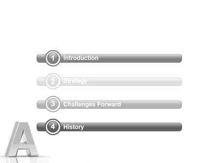 3D Letter PowerPoint Template Slide 3