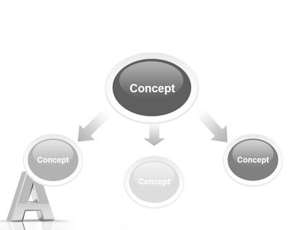 3D Letter PowerPoint Template, Slide 4, 01736, 3D — PoweredTemplate.com