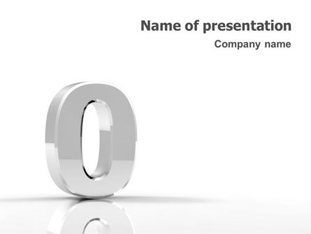 3D Number PowerPoint Template