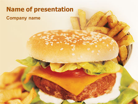 Fast Food Powerpoint Template Backgrounds    PoweredtemplateCom