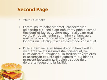 Fast Food PowerPoint Template, Slide 2, 01741, Food & Beverage — PoweredTemplate.com
