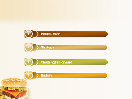 Fast Food PowerPoint Template, Slide 3, 01741, Food & Beverage — PoweredTemplate.com