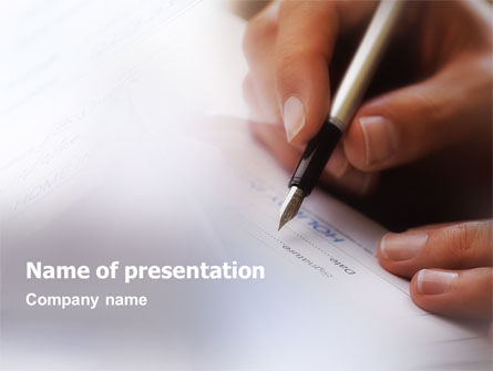 Signature PowerPoint Template, 01742, Business — PoweredTemplate.com