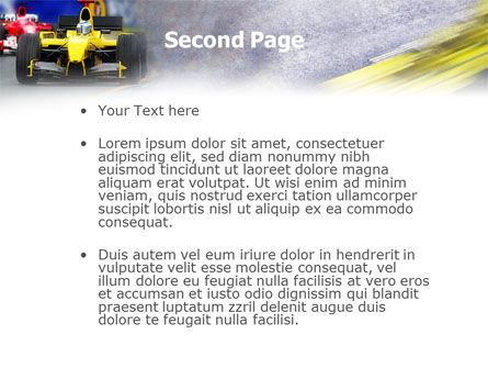 Auto Racing PowerPoint Template Slide 2