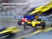 Sports: Auto Racing PowerPoint Template #01744