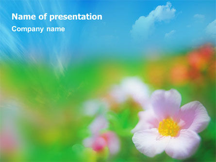 Bloom PowerPoint Template, 01746, Nature & Environment — PoweredTemplate.com