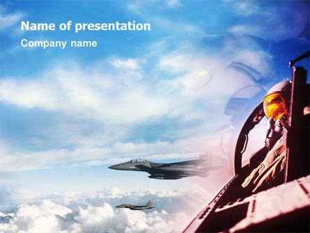 Fighter Aircraft PowerPoint Template, 01747, Military — PoweredTemplate.com