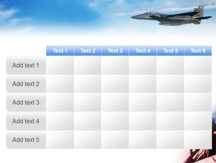 Fighter Aircraft PowerPoint Template Slide 15