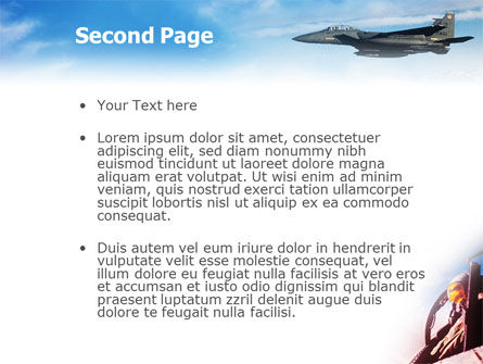 Fighter Aircraft PowerPoint Template Slide 2