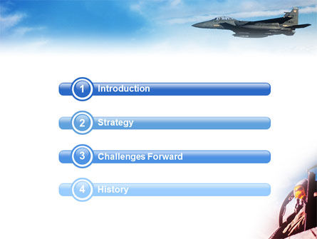 Fighter Aircraft PowerPoint Template, Slide 3, 01747, Military — PoweredTemplate.com