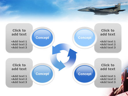 Fighter Aircraft PowerPoint Template Slide 9