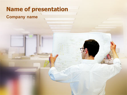 Construction: Building Architecture PowerPoint Template #01748