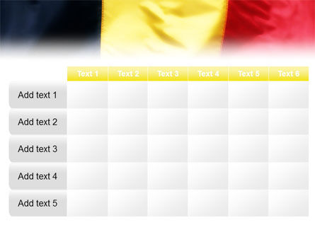 Belgian Flag PowerPoint Template Slide 15