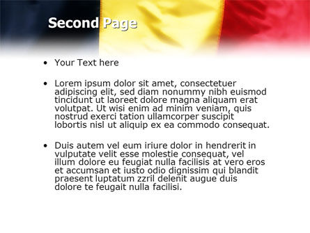 Belgian Flag PowerPoint Template Slide 2
