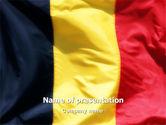Flags/International: Modelo do PowerPoint - bandeira belga #01751