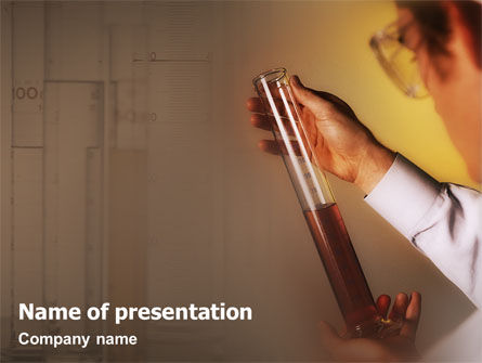 Technology and Science: Chemical Testing Process PowerPoint Template #01753