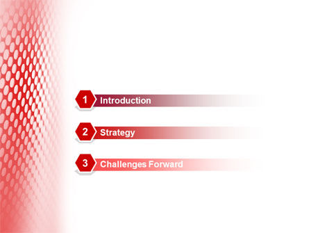 Perforated Red PowerPoint Template Slide 3