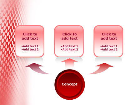 Perforated Red PowerPoint Template, Slide 4, 01754, Abstract/Textures — PoweredTemplate.com