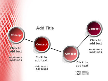 Perforated Red PowerPoint Template Slide 6