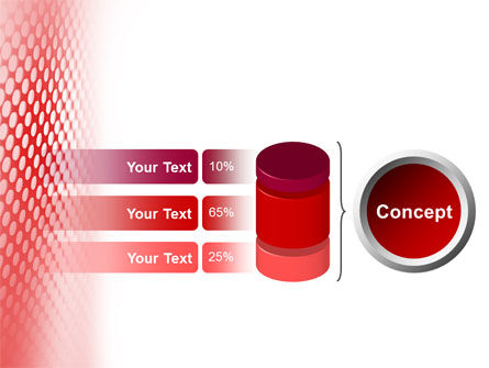 Perforated Red PowerPoint Template Slide 8