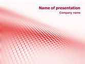 Abstract/Textures: Perforated Red PowerPoint Template #01754