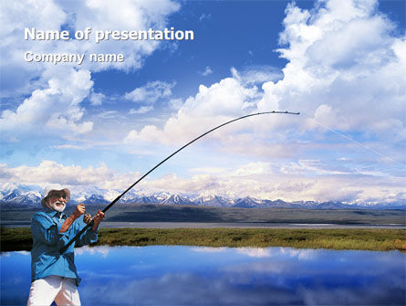 Sports: Sport Fishing PowerPoint Template #01756
