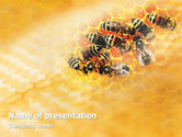 Agriculture: Cells and Bees PowerPoint Template #01757
