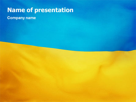 Ukrainian Flag PowerPoint Template, 01760, Flags/International — PoweredTemplate.com