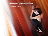 Art & Entertainment: Dansend Paar PowerPoint Template #01762