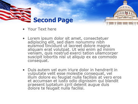 United States Capitol Building PowerPoint Template, Slide 2, 01766, Flags/International — PoweredTemplate.com
