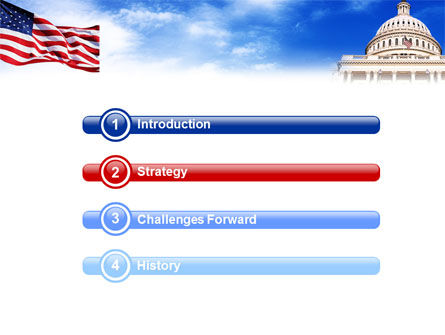 United States Capitol Building PowerPoint Template Slide 3