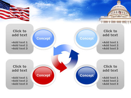 United States Capitol Building PowerPoint Template Slide 9