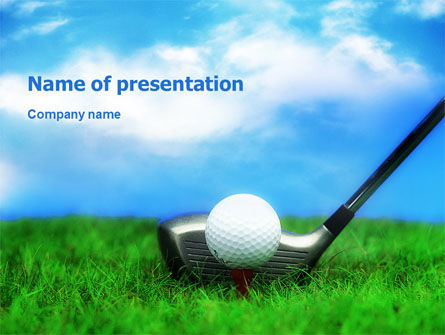 Golf PowerPoint Template, 01768, Sports — PoweredTemplate.com