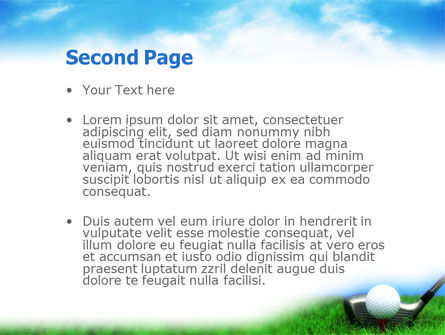 Golf PowerPoint Template, Slide 2, 01768, Sports — PoweredTemplate.com