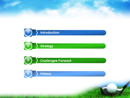 Golf PowerPoint Template, Slide 3, 01768, Sports — PoweredTemplate.com