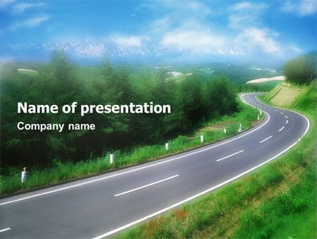 road powerpoint template, backgrounds | 01769 | poweredtemplate, Modern powerpoint